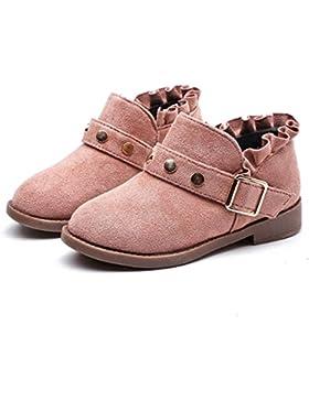 Koly Botas de invierno caliente botas de nieve de las niñas Lace Rivet Martin boots Corto Boots Nieve Espesa Sneaker...