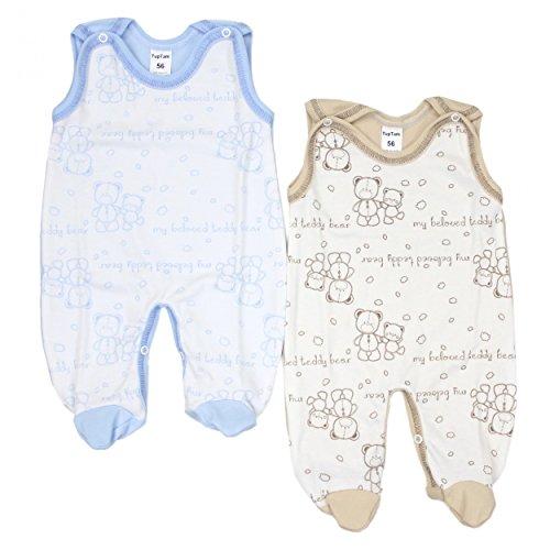 TupTam Unisex Baby Strampler Baumwolle Gemustert 2er Set, Farbe: Farbenmix 6, Größe: 62