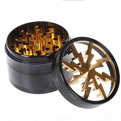 IDEAW Pollen Grinder Crusher 63mm für Tabak,Spice,Gewürze,Herb,Kaffee 4-Teiliges Set mit Pollen Scraper ... Spice Grinder Set