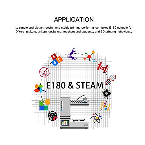 Geeetech E180 3D Drucker, Mini 3D Drucker mit eingebautem 3D Wifi Modul und Stromausfall-Wiederherstellung, 3.2″ Vollfarb- Touch Screen und EasyPrint 3D App, Fernkontrollierbarer 3D Drucker - 5