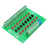 ILS-8 Kanal 24V bis 5V Optokoppler Isolationsmodul SPS Signalpegel Spannungswandler NPN Ausgang DST-1R8P-N