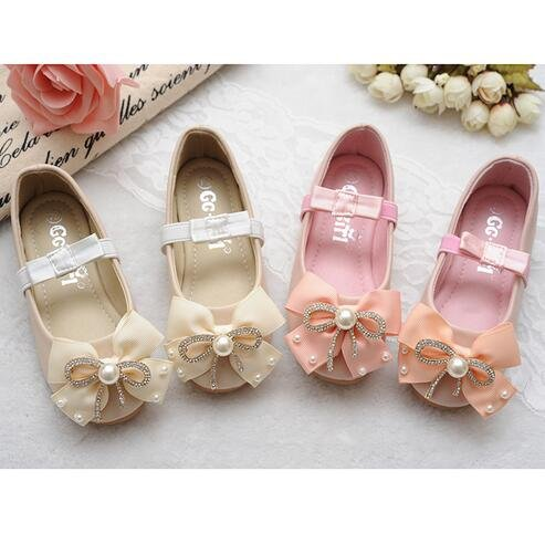 Ohmais Enfants Filles Chaussure cérémonie Ballerines à bride Fête Demoiselle d'honneur Mariage Escarpin plat Babies pink