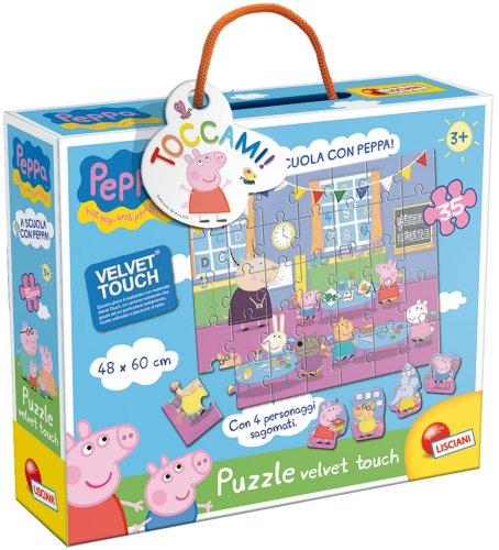 Liscianigiochi - 43484 puzzle velvet touch a scuola con peppa