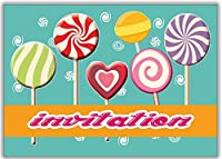 cartes d' invitation Lollopop