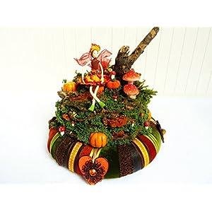 Wohndeko Herbst KÜRBISFEST Vintage Elfe Naturdeko Verspielt Tischkranz