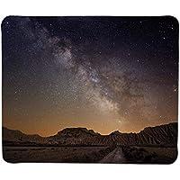 Alfombrilla de ratón Cielo Nocturno, Lugar de Vacaciones Europeo España Vía Láctea Sobre el Desierto