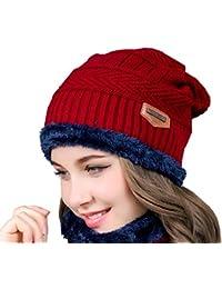 Beanie Hombre Mujer Sombrero Gorros de Invierno Tejer Cálido Gorros  Sombreros Lana Gorra Unisex Motocicleta Esquí 9b92ed0babc
