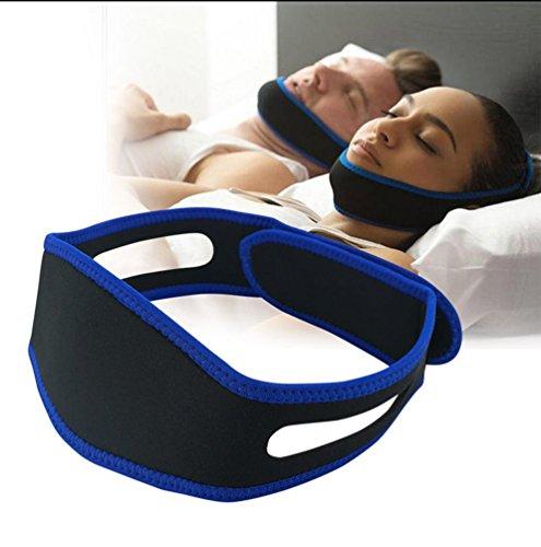 Anti-Schnarchen Kinn Riemen Bandage Kiefer-Band keine Schlaf-Schlafapnoe Masken einstellbar Natural Schnarchen Relief Device für Mund breathers