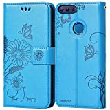 Coque Huawei Honor 8, kazineer Housse en Cuir Protection Case Portefeuille Etui pour Huawei Honor 8 Coque - Bleu turquoise