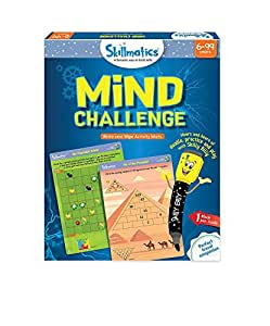 Skillmatics Educational Game: Mind Challenge (6-99 Years) | Fun Games and Activities for Kids | Erasable and Reusable Mats