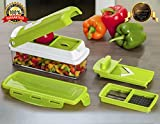 #8: Bagonia 12 in 1 Slicer Dicer Plus 12 Pieces Grater Food-Chopper Multi-Cutter Slicer Peeler Zester Dicing Fruit + Vegetable Storage Container