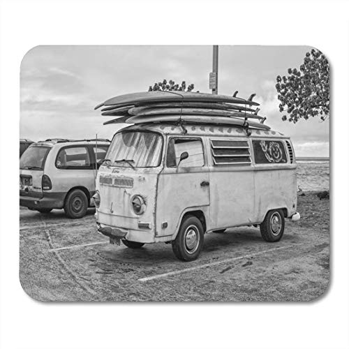 Deglogse Gaming-Mauspad-Matte, Honolulu Hawaii USA August 9 Vintage Surfing Van Roof Mouse Pad, Desktop Computers mats