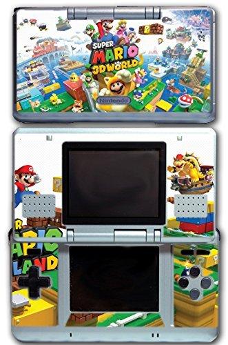 Super Mario 3D World 2 Land Mario Luigi Peach Toad Cat Suit Video Game Vinyl Decal Skin Sticker Cover for Original Nintendo DS System by Vinyl Skin Designs (Mario 3d Land Für Nintendo Ds)