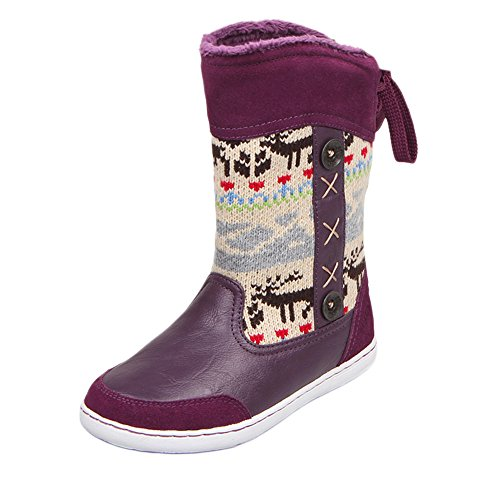 uovo-winter-snow-boot-reindeer-retour-a-lacets-chaussures-pour-enfants-garcons-filles-eu-33-uk-size-