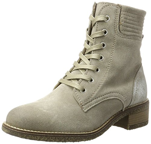 Tamaris Damen 25287 Combat Boots, Beige (Taupe/Silver), 38 EU