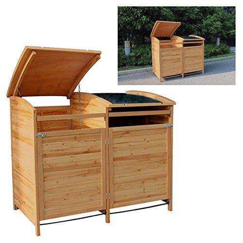 MTB Mülltonnenbox Holzverkleidung mit Deckel Türe 240 L. Gartenbox erweiterbar (Erweiterung) - 4