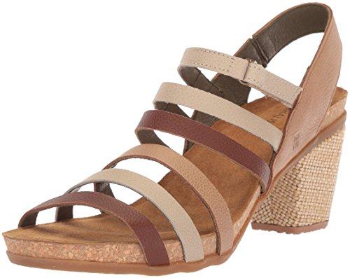 El Naturalista Women's N5030 Soft Grain MUESLI Mixed/Mola Heeled Sandal, 42 Medium EU (11 US) Medium Müsli