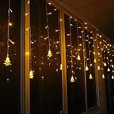DIKHBJWQ 3.5M Weihnachtsbaum-Eiszapfen-Fee Beleuchtet Bulbshome Weihnachtsdekoration