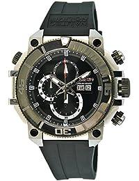 Nautec No Limit Herren-Armbanduhr XL Seabridge Chronograph Quarz Kautschuk SB-RBSTIPBK-BK