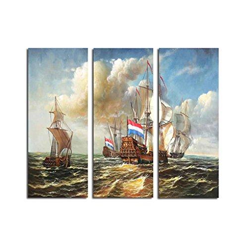 elschiff Sea Mordern Spray Painting Öl Fotos Zeichnung Büro Polyester Heim Wohnzimmer-Wand-Dekor (Wand Dekor Und Mehr)