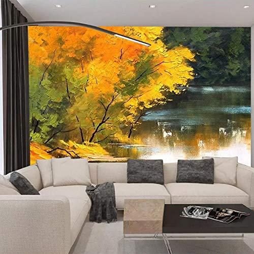 3d mural wallpaper Wohnzimmer Schlafzimmer Landschaft Ölgemälde_forest Creek Landschaft Ölgemälde Wohnzimmer Schlafzimmer TV Hintergrund Papier Wandmalerei430cm×300cm -