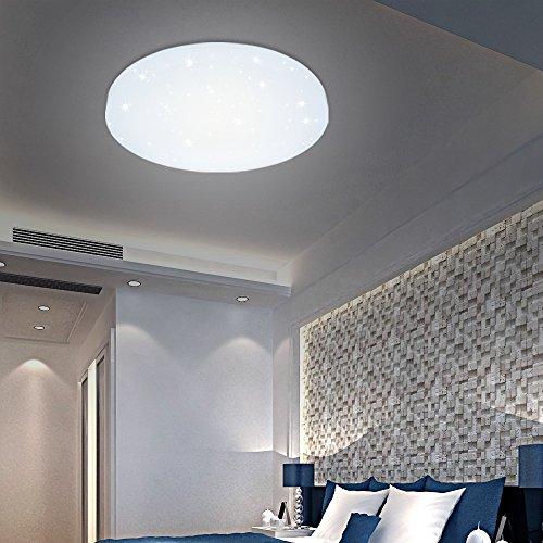 HG® 12W LED Deckenleuchte Weiß rund Badleuchte Sternen Himmel Innenleuchte Wand-Deckenleuchte leuchte Schlafzimmer Esszimmer Moderne Lampen Markantes Design Energieklasse A++