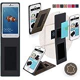 Funda para Goophone X3 en Cuero Marrón Vintage - Innovadora Funda 4 en 1-Anti-Gravedad para Montaje en Pared, Soporte de Tableta en Vehículos, Soporte de Tableta - Protector Anti-Golpes para Coches y Paredes sin necesidad de herramientas o pegamento - Funda de Reboon para Goophone X3 Original