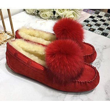 Wuyulunbi @ Femmes Chaussures Automne Hiver Mocassin Comfort Flats Pour Casual Lumière Brun Rose Rouge Gris Bleu Foncé Us5.5 / Eu36 / Uk3.5 / Cn35