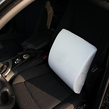 ** Offre de lancement ** Coussin dorsal de haute qualité en gel à mémoire de forme - Contre le lumbago, les problèmes de disques, la douleur en bas du dos - Avec sac de transport (blanc)