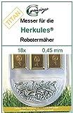 18titanio ricambio Coltello da Lame 0,45mm Herkules G Force 100015002500Hercules
