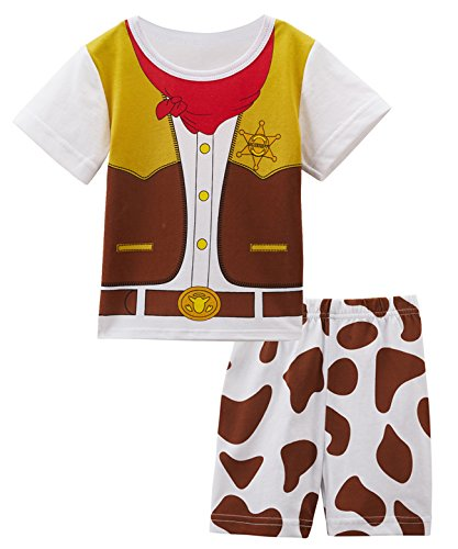 2 Stücke Ninja Kostüm Shirt Sets (0-6 Monate, Cowboy) (Weißes Kleinkind Ninja Kostüme)