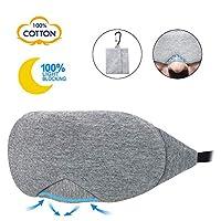 Keyzone Sleep Eye Mask for Men Women Sleeping Mask with Travel Pouch Buckle for Night Yoga Meditation (Gray)