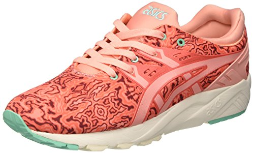 Asics Unisex-Erwachsene Gel-Kayano Trainer Evo Gymnastik, Blau Orange (Hot Coral/Peach Melba)