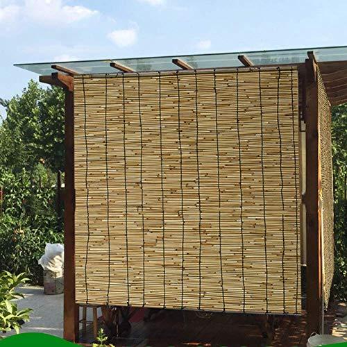 Bambusrollo Roll-Up Jalousien-Bambus Shades-Reed Vorhang, Wasserdichter Korrosionsschutz Lifting Shutters Für Outdoor/Patio/Tür, 60cm / 80cm / 100cm / 120cm / 140cm Breit (Size : W 140×H 240cm) (Reed Jalousien)