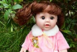 "12"" BELLA INTERACTIVE TALKING BABY GIRLS DOLL REAL LIFE LOOKING FRENCH EUROPEAN (Pink Jacket)"