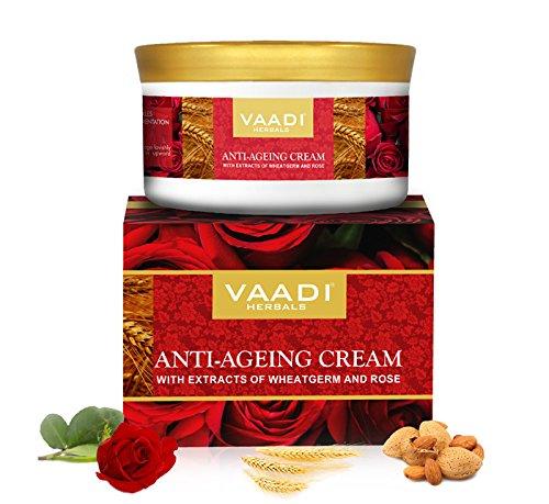 Anti Ageing Cream mit Extrakten von Mandeln, weizenkeimlingen und Rose alle natur–paraban gratis –-Sulfat frei–Unisex–Gut für alle Hauttypen 150GMS