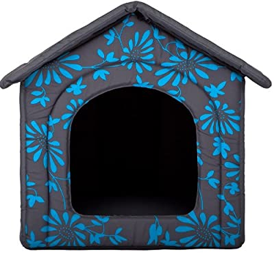 HOBBYDOG Dog or Cat Kennel/Bed S - XL Blue Flowers Design from HobbyDog