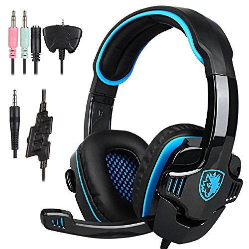 Gaming Kopfhörer für PS4,SA-708 GT 3.5mm Gaming Headset Spiel Kopfhörer Musik Kopfhörer Mit Mikrofon für PS4 XBOX 360 Tablet PC Mobile Phones (Coole Xbox 360)