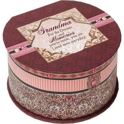 Cottage Garden Grandma Pink Belle Papier Music Box / Jewelry Box Plays Wind Beneath Wings