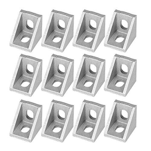UKCOCO 25Pcs 2020 Eckwinkel für 20mm Aluminiumprofile (Mattglanz)