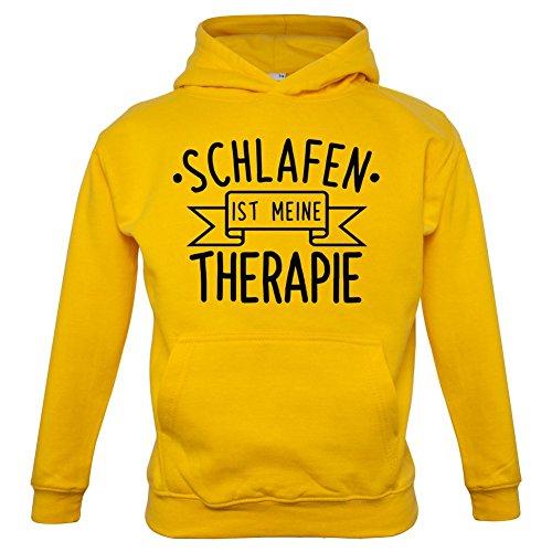Schlafen ist meine Therapie - Kinder Hoodie/Kapuzenpullover - Gelb - XS (1-2 Jahre)