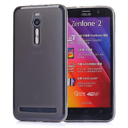 Tinxi Coque de protection en silicone TPU pour Asus Zenfone 2 ZE550ML / ZE551ML (5.5 pouces) - Translucide noir