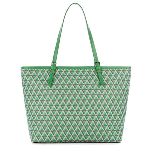 lancaster-paris-womens-41804vertpraine-green-canvas-tote
