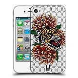 Head Case Designs Tiger Druck Modische Patches Soft Gel Hülle für iPhone 4 / iPhone 4S