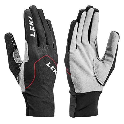LEKI Erwachsene Nordic-Walking-Langlauf-Handschuhe Nordic Skin schwarz grau, Größe:8