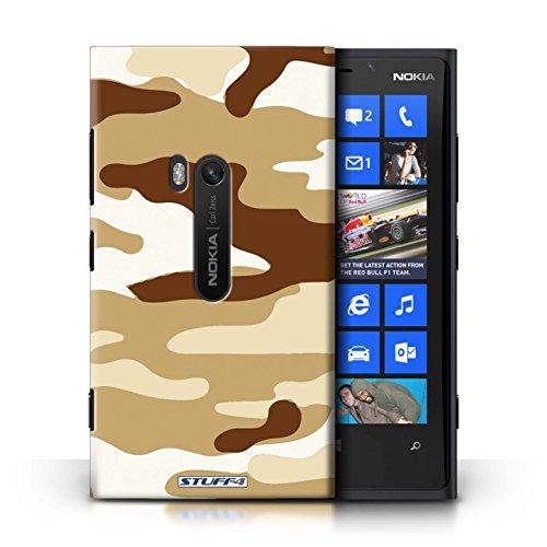 Coque en plastique pour Nokia Lumia 920 Collection Armée/Camouflage - Vert 3 Marron 2