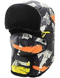 MAFYU Trapper Hat para Hombre, Winter Warm Cotton Bomber Hat con Máscara, Mantener El
