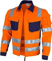 Qualitex Warnschutz-Jacke PRO MG 245 - orange/marine - Größe: 5XL