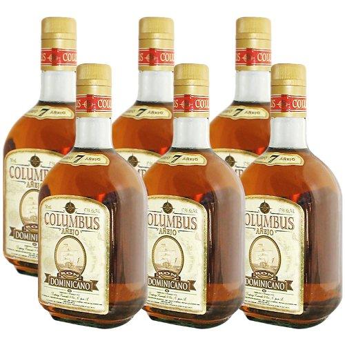 Barcelo Ron Columbus Anejo Sparpaket 6 x 0,7 l 7 jähriger Premium Rum