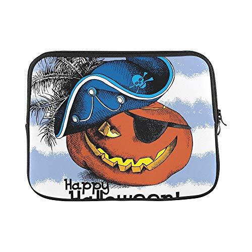 WDDHOME Design Benutzerdefinierte Halloween Poster Bild Spooky Pumpkin Eyes Sleeve Weiche Laptop Tasche Tasche Haut Für MacBook Air 11